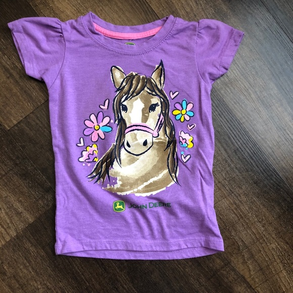John Deere Purple horse T-shirt 3T